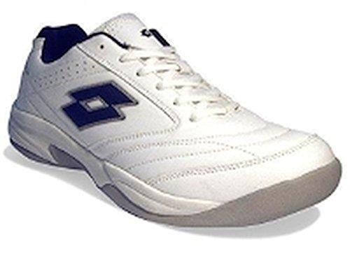 Lotto Court Logo VIII Si Si, Scarpe da Tennis Uomo, Bianco (White/D C Blue 001), 44 EU