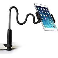Soporte para Tablet Móviles, Sirandor Sostenedor Flexible 360 Grados Fácil Ajuste Soporte de Cuello de Cisne para iPad / iPhone/ GPS Samsung, Teléfono y Tablets de 3.5 a 10.5 pulgadas - Negro Puro