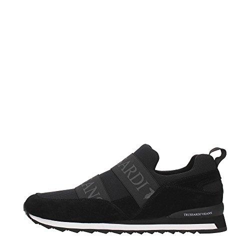 Scarpe Trussardi Jeans Suede/Mesh - Sneakers 2016 - Uomo Nere/Rosse (44)