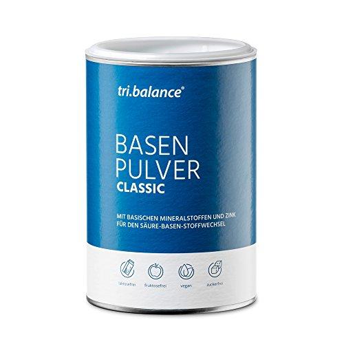 tri.balance Basenpulver CLASSIC 300g + Zink zur Entsäuerung | Magnesium + Calcium + Kalium | Für die Säure-Basen-Balance | Ideal bei Sport · Diät · Basenfasten | Vegan