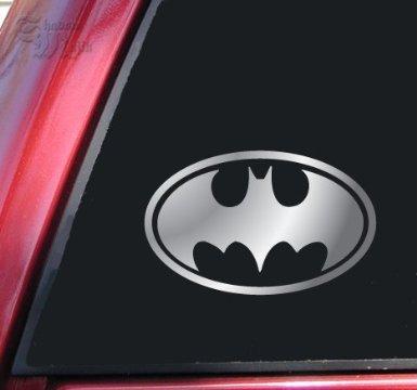 Aufkleber Batman Bat Symbol Vinyl Decal Sticker - Shiny Chrome (Batman-laptop-aufkleber)