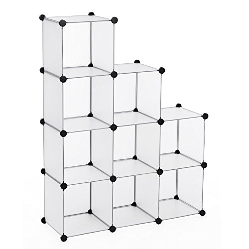 Songmics armadio armadietto guardaroba scaffale cubi mobiletto modulare bianco 93 x 123 x 31 cm lpc115s