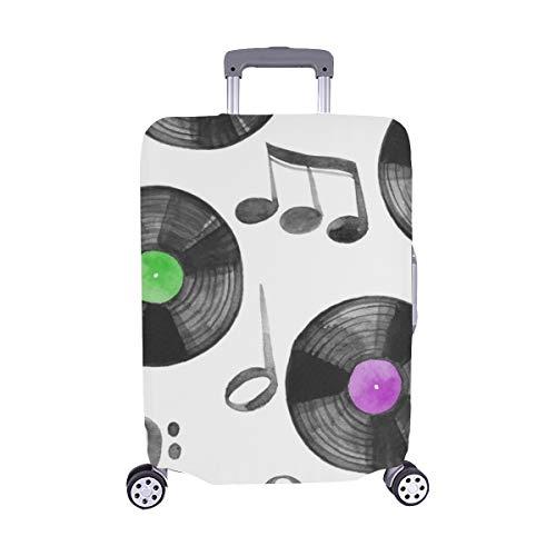 (Nur abdecken) Vinyl Lp Retro Records Spandex Staubschutz Trolley Protector case Reisegepäck Beschützer Koffer Cover 28,5 X 20,5 Zoll (Vinyl Abdeckungen Für Alben)