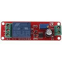 FAYM- DIY NE555 monostabile Temporizzatori Circuito del modulo di ritardo (12V, Rosso)