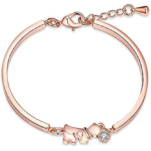 regalos tus mascotas mas kawaii threco Mujer Mascotas Perro Diseño Pulsera Rosa Goid Circonita regalo para las niñas de moda