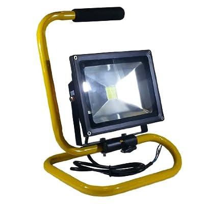 V-TAC LED Fluter Baustrahler Scheinwerfer Strahler 20 Watt mit Ständer IP65 6000K Weiß von V-TAC - Lampenhans.de