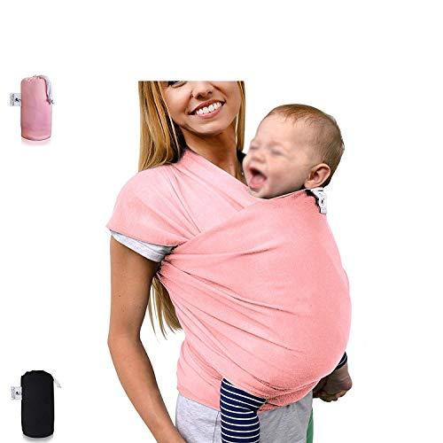 B&B Babytragetuch - elastisches Tragetuch für Früh- und Neugeborene Kleinkinder - inkl. Baby Wrap Carrier Anleitung - Farbe grauTragetuch (Wrap Pet Carrier)