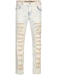 Cipo & Baxx Destroyed Hommes Jeans Bleu CD262