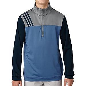 adidas Boys Fashion Herren Half Zip Layer Sweater Golf, Kinder S