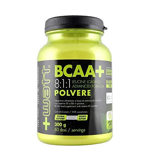 Bcaa+ 8:1:1 leucine - +watt - aminoacidi ramificati 300g arancio