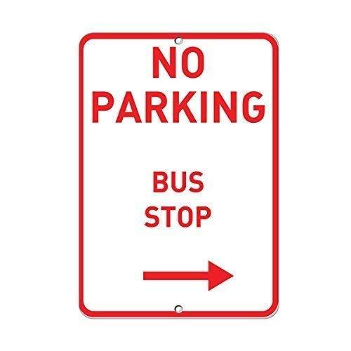 Vivityobert Parkplatzschild mit Pfeil nach rechts, Metall, Warnschild, Gefahrenschild, Sicherheitshinweis, Noitce Schild für Hauswanddekoration, 8 x 12 cm