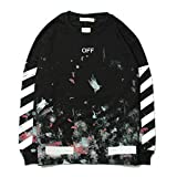Off OW hip hop Ink Star Arrow Couple Pullover Sweater for Men/Women