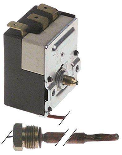 Vibiemme Thermostat für Kaffeemaschine Domobar-Junior-2B max. Temperatur 55°C 1-polig Fühler ø 6,5x90mm 1CO Achse 6x4,6x6mm