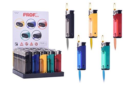 Feuerzeuge + LED Licht im Display + 1 gratis Feuerzeug allaroundprofi24 Feuerzeug Nachfüllbar und Befüllt Kiosk ()