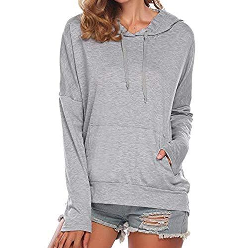 CICIYONER Mode Hoodie Sweatshirt Frauen Langarm Lässige Pullover Tops Taschen Bluse