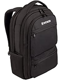 "Wenger 600630 FUSE 16"" Laptop Backpack , Padded laptop compartment with iPad/Tablet / eReader Pocket in Black {16 Litres}"