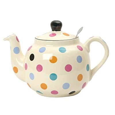 London Pottery Farmhouse Théière à filtre pour 6 tasses Multicolore/à pois