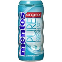 Mentos - Pure Fresh - Chicles con sabor a menta - 1 paquete - [Pack