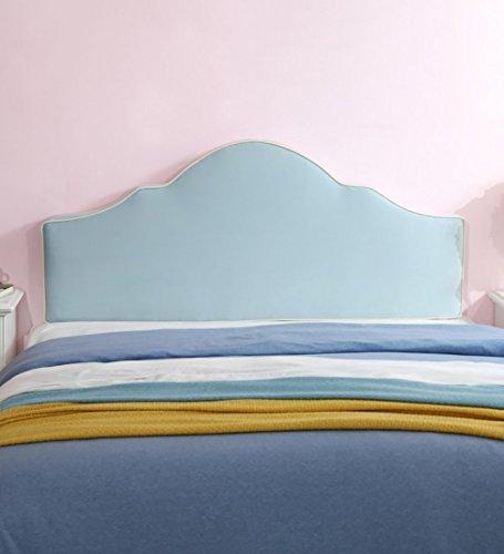 GONGFF Kopfteil Kissen Kissen Schwammfüllung Für Einzel Doppel Prinzessin Bett Rückenkissen Kopfteile Dekoration, Waschbar 3 Farben, 5 (Farbe: HELLBLAU, größe: 165 * 8 * 65 cm) -