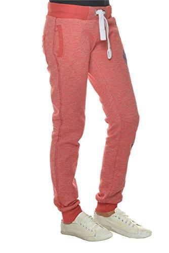Pantalons de survêtement de jogging M.Conte pantalon pour les femmes Rouge