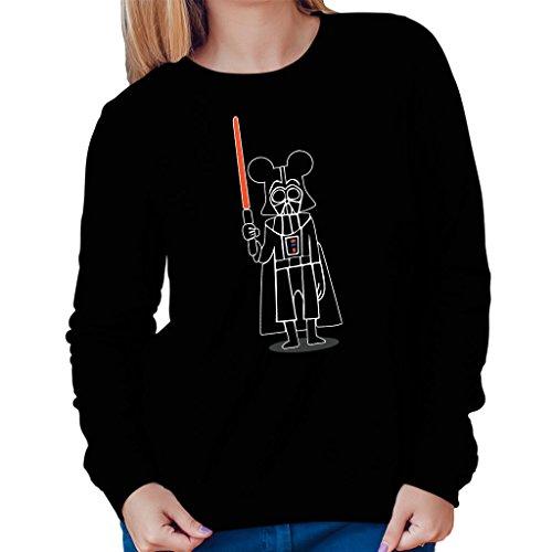 Darth Vader Mouse Mickey Star Wars Disney Womens Sweatshirt Black