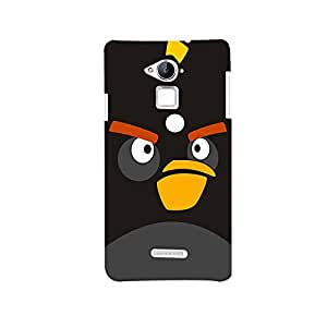 Mikzy Angry Bird Black Background Printed Designer Back Cover Case for Coolpad Note 3 (MultiColour)