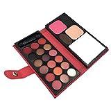 Sharplace 22 Farben Lidschatten Palette, Matte und Glitzer Eye Shadow Blush Highlighter Palette mit Spiegel und Klein Makeup Brush, Professionelles Makeup Set