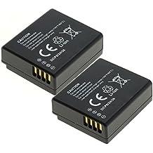 2x subtel® Batería premium para Leica D-Lux, Panasonic Lumix DMC-LX100, DMC-GX7 -GX80, DMC-TZ80 (750mAh) DMW-BLE9 bateria de repuesto, pila reemplazo, sustitución