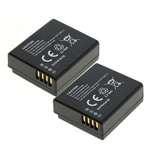 2x subtel® Qualitäts Akku für Leica D-Lux, Panasonic Lumix DMC-LX100, Lumix DMC-GX7 -GX80, Lumix DMC-TZ101 -TZ100 DMC -TZ81 -TZ80, DMC-GF6 -GF6x, -GF3, -GF5, -GF6X, DMC-S6, Lumix DC-TC91 (750mAh) DMW-BLE9,DMW-BLG10,Leica BP-DC15 Ersatzakku Batterie