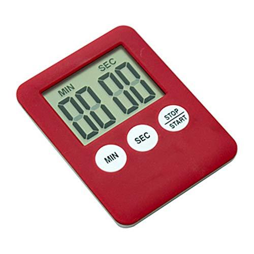 XIAOMEI Digitaler küchentimer Wecker Mit Magnet LCD Bildschirm Kurzzeitwecker Count down Portable(Red,Blue)-rot