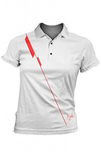 Fayde Golf Damen Pin Fashion Polo, Fayde Europa Damen Fashion Golf Polo, Damen Golf Shirt, Meine Damen Polo, Damen Polo T-Shirt, Comfort Fit, tastex hygienisch Finishing, Rescue Stoff, Feuchtigkeitstransport., weiß