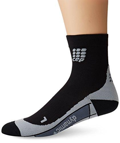 Herren Kurze Wirkung (CEP Herren Kompressionsbekleidung Dynamic plus Short Socks, schwarz, 4, WP5BV0)