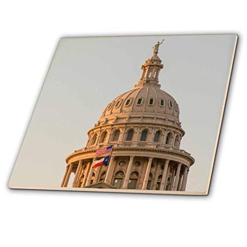 3dRose USA, Austin, Texas, Göttin der Freiheit auf der Capitol Building.-Keramik Fliesen, 4-Zoll (CT 207386_ 1) (Building Capitol Us)