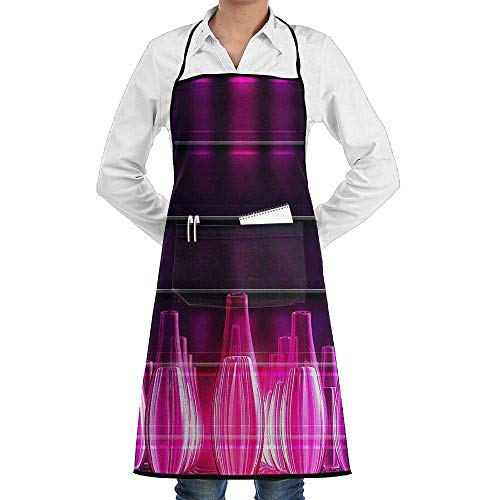 QIAOJIE Kochschürze, Taschen, rote Bowlingkugeln, langlebig, zum Kochen und für Küche