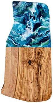 Planche à découper en bois d'olivier rustique
