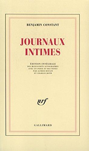 Journaux intimes par Benjamin Constant