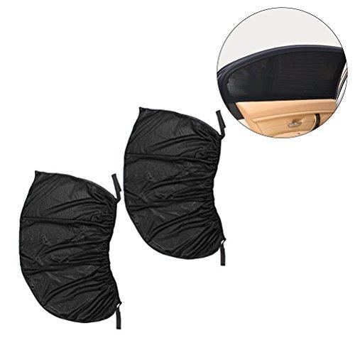 Preisvergleich Produktbild VORCOOL 2PCS Universal passendes schwarzes Ineinander greifen-Auto-seitliches hinteres Fenster Sun-Farbton-Abdeckungs-Schirm 113 * 50cm