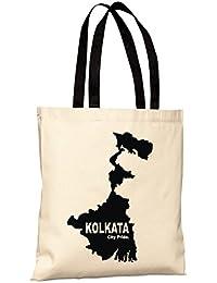 Kolkata City Pride Reusable 100% Cotton Eco Friendly Printed Tote Bag From State Pride -T