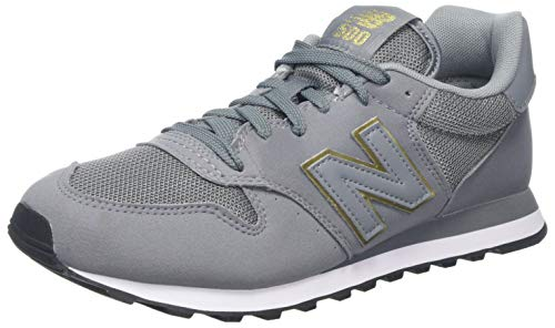 New Balance Damen GW500 Sneaker, Grau (Grey/gold/GW500GKG), 38 EU