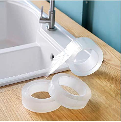 Wand Ecke Linie Aufkleber Keramik Aufkleber PVC Wasserdicht Küchenband Badzubehör Selbstklebende Transparente Aufkleber 5 * 3 cm
