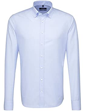 SEIDENSTICKER Herren Hemd Tailored 1/1-Arm Bügelfrei Uni / Uniähnlich City-Hemd Button-Down-Kragen Kombimanschette...