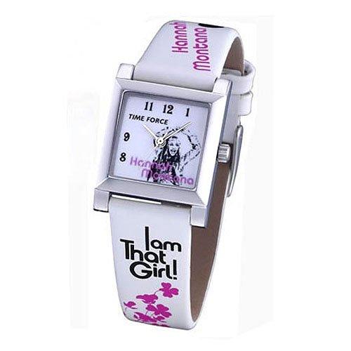Time Force HM1003–Orologio con cinturino in pelle per donna, colore: bianco/grigio