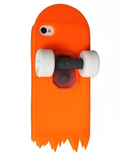 Roulettes en caoutchouc souple en silicone pour iPhone 5, 5s, 5c nouveau couvercle de forme 3D (blanc) © Sloth Cases Orange