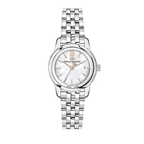 Philip Watch Women's Watch, Anniversary Collection, Quartz Movement, Three Hands with Date, Stainless Steel Watch - R8253150506