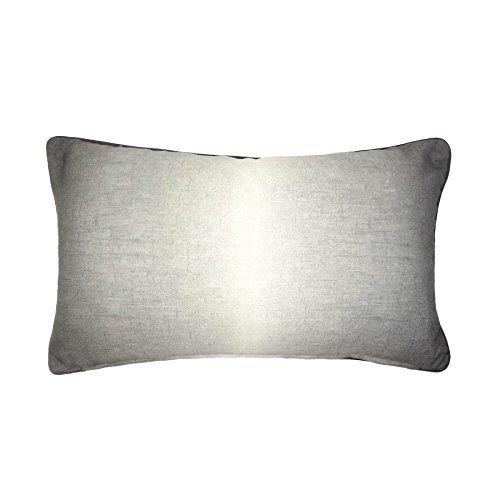 Ombre grau weiß verrohrt 28cm x 38cm Boudoir Kissenbezug -