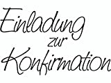 Knorr Prandell 211800101 Stempel - Einladung zur Konfirmation, 6.8 x 4.2 cm