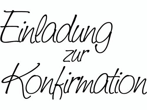 Knorr Prandell 1800101 - Stempel - Einladung zur Konfirmation, 6.8 x 4.2 cm