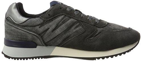 Wrangler Herren Forest Sneakers Schwarz (nero / Denim)