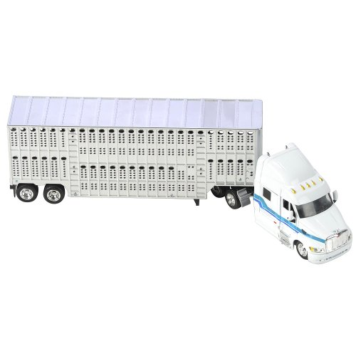 Fast Lane 1:43 Scale Might Haulers - Peterbilt 387 Tractor Trailer with Livestock Hauler
