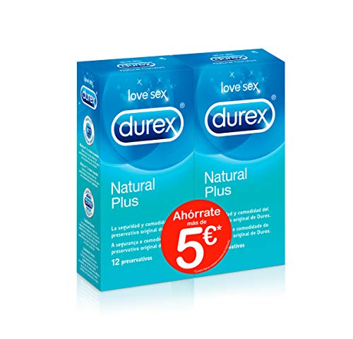 Durex Preservativos Natural Plus Pack Ahorro 2 x 12
